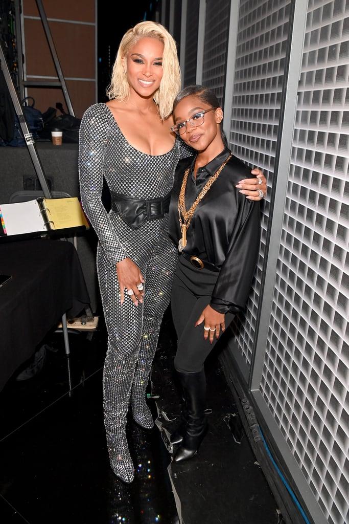 Marsai Martin and Ciara at the BET Awards