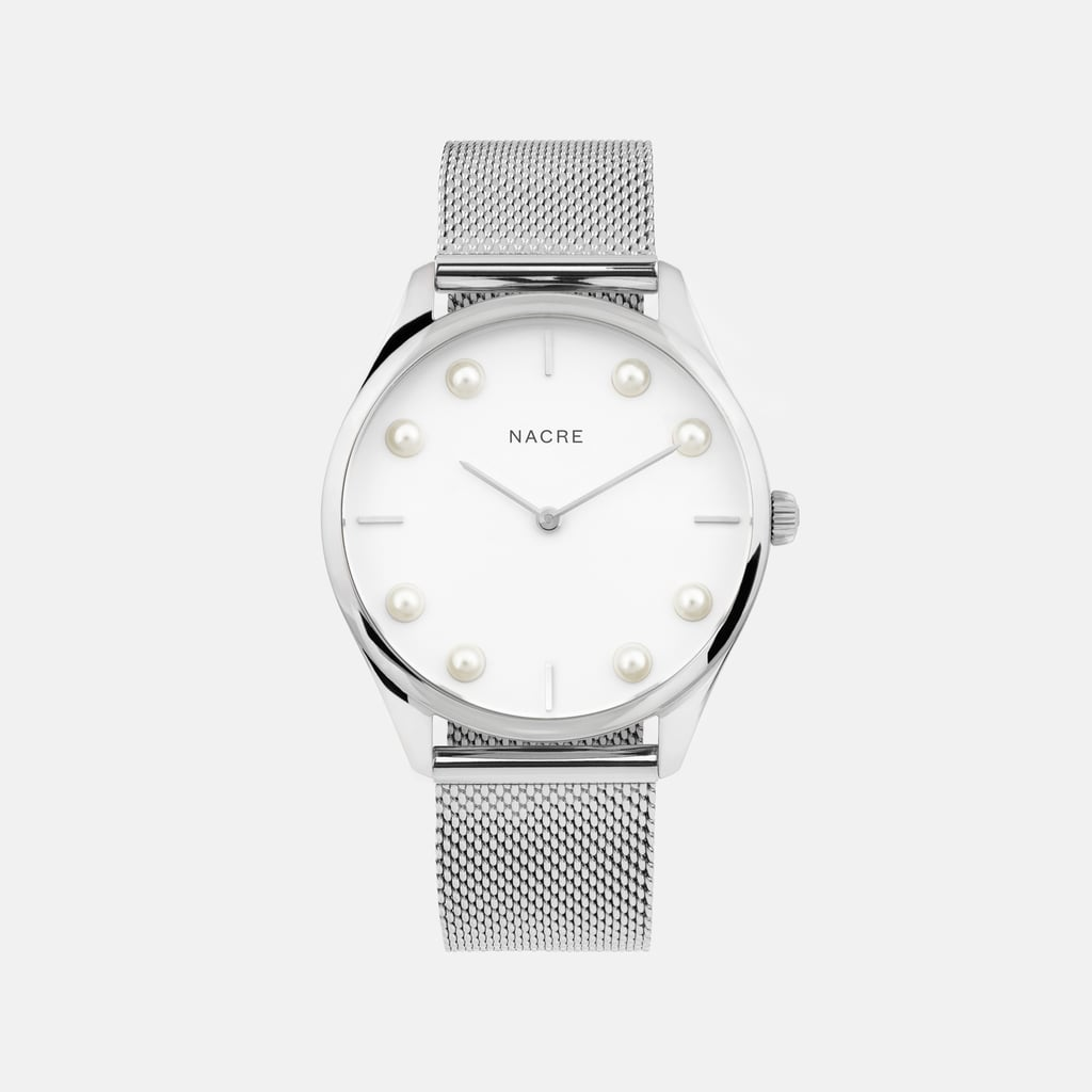 Nacre Lune 8 Stainless Steel Mesh Watch