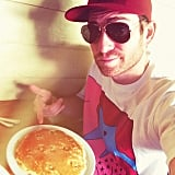 """Bryan Greenberg shared this snap, writing, """"Eating pancakes. Solo. #HappyValentinesDay."""""""