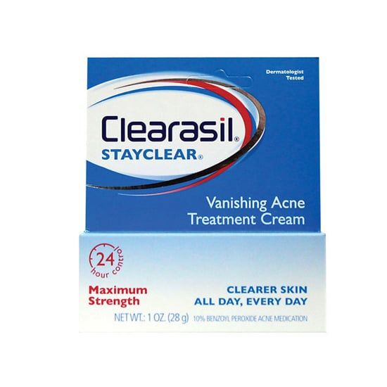 Not only does Clearasil Vanishing Acne Treatment Cream ($6) clear existing pimples, it also keeps new ones from forming.
