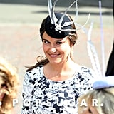Pippa Middleton wore a fancy hat.
