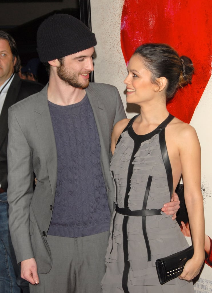 Tom Sturridge and Rachel Bilson showed off their gorgeous smiles together at the premiere for Waiting For Forever in LA last night. Rachel wore a chic Burburry Prorsum dress on the red carpet — FabUK wants to know if you love her look? The movie seems perfect for a February release, and stay tuned for some of PopUS's interview with the stars coming up later, where Tom talks about Kristen Stewart. Why not see how well you know your British Toms in my quiz, all about Tom Sturridge, Tom Hardy and Tom Felton.
