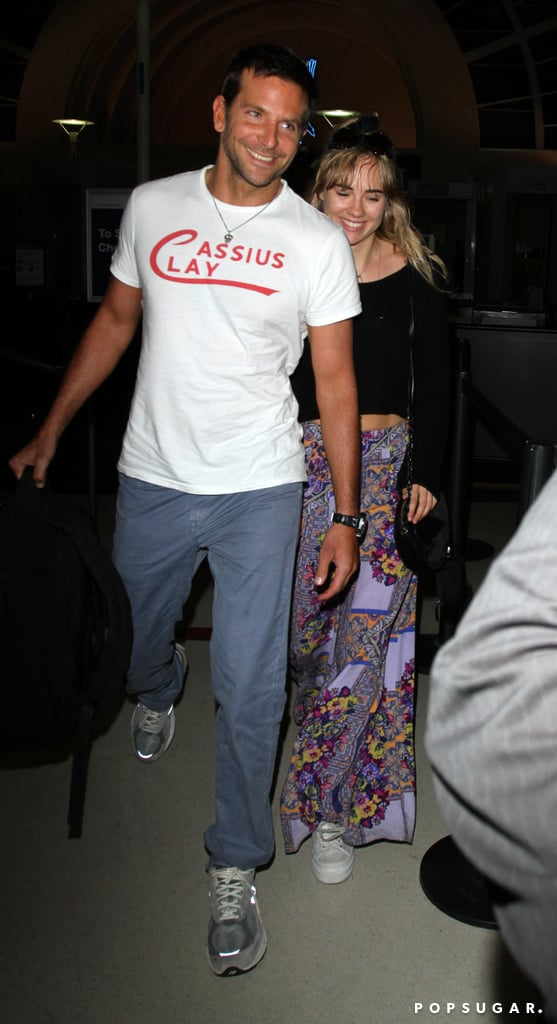 Bradley Cooper and Suki Waterhouse arrived at LAX.