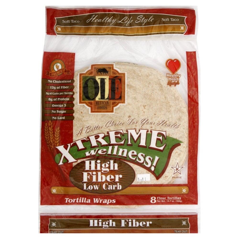 Ole Mexican High-Fiber Low-Carb Flour Tortillas