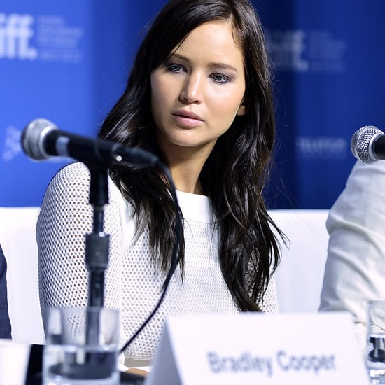 Jennifer Lawrence With Dark Hair and White Dress at TIFF