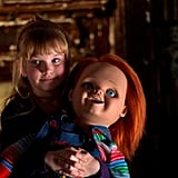 Curse of Chucky Chucky alum Jennifer Tilly returns for another installment about the terrifying doll possessed by a serial killer. Curse of Chucky, available on Blu-ray and DVD on Oct. 8, brings the doll back to the big screen as he finds his way into a house with a family he's got a grudge against. Bloodshed soon follows, obviously.