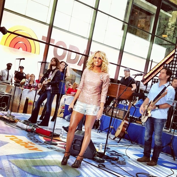 Carrie Underwood performed on the Today show. Source: Instagram user todayshow