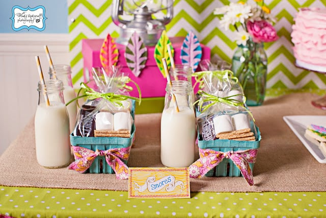 Camping-Themed Dessert Table Goodies