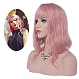 eNilecor Pink Wig With Bangs
