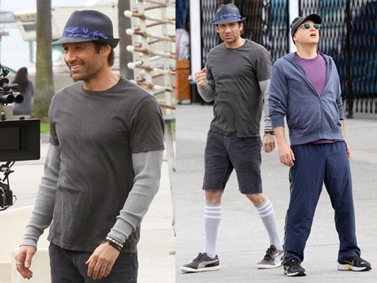 Photos of David Duchovny On the Set of Californication in LA