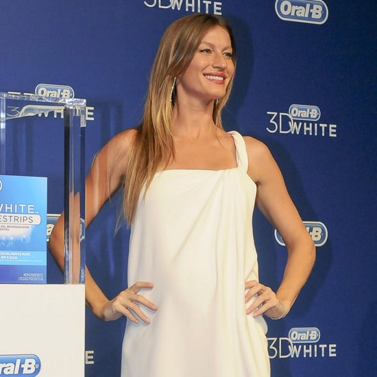 Gisele Bundchen Pregnant in White Dress | Pictures
