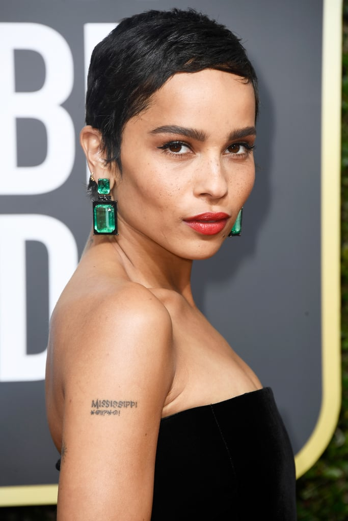 Zoe Kravitz | Celebrity Hair and Makeup at the 2018 Golden Globes ...