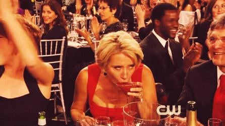She Had an Awkward Drink-Sipping Moment at the Critics' Choice Awards