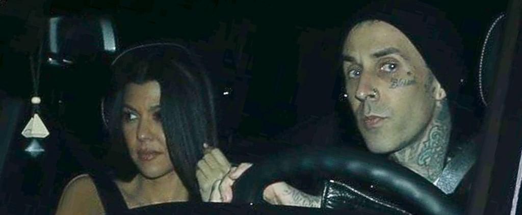 Kourtney Kardashian and Travis Barker Grab Dinner in LA
