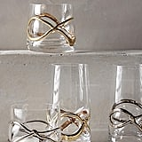 Glimmer-Wrapped Red Wine Glass
