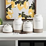 Two-Tone Modern Farmhouse Canisters