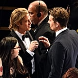 Photos of Brad Pitt and Bradley Cooper Talking at the Oscars
