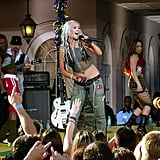 Christina Aguilera performed in the streets of New Orleans in February 2003.
