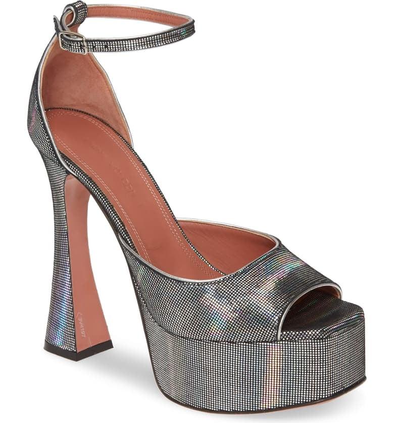 Amina Muaddi Bianca Platform Sandal