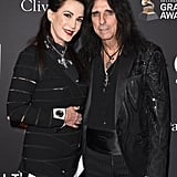 Sheryl Goddard and Alice Cooper