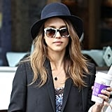 Jessica Alba gets in the mix, confirming black and white is always a stylish combo.