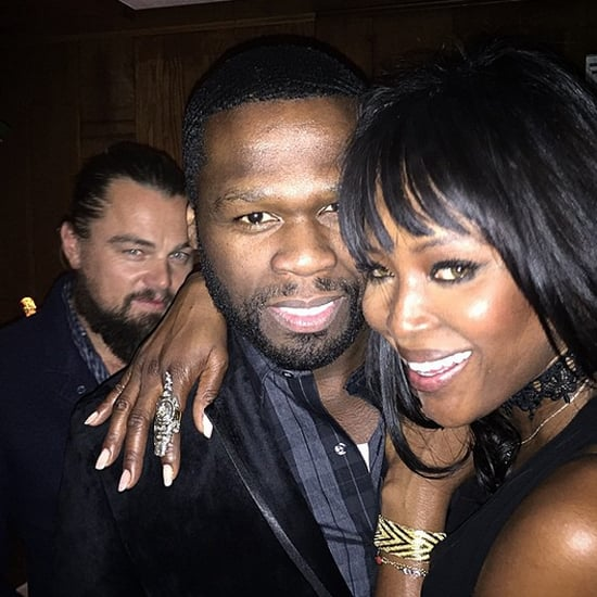 Leonardo DiCaprio Perfectly Photobombed 50 Cent and Naomi Campbell