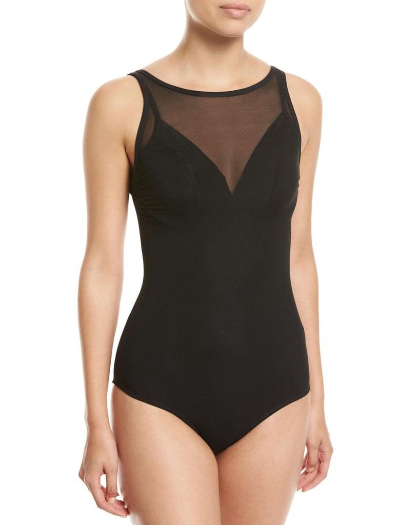3dd2b5d84f8ed JETS by Jessika Allen Aspire High-Neck Mesh One-Piece Swimsuit ...