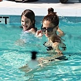 Katie Holmes in a bikini with Suri in Miami.