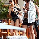 Lindsay Lohan in Bathing Suit in Maui