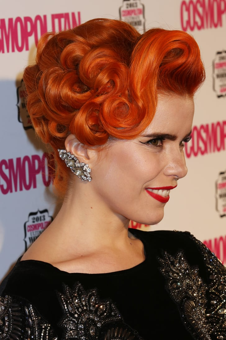 An Elaborate Pin Curled Updo Gave Paloma A Faux Bob At The
