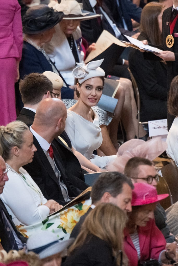 Angelina Jolie's Ralph & Russo Gray Dress