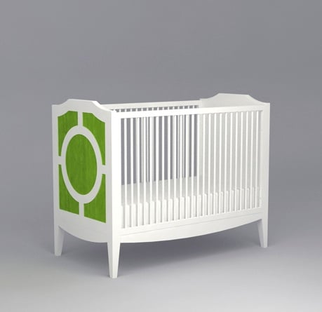 The Regency Crib ($1,650) from Ducduc NYC has an Old Hollywood vibe and a chic retro silhouette.