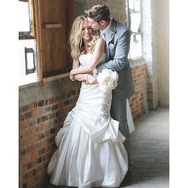 Kristin Cavallari shared this sweet shot from her wedding to Jay Cutler. Source: Instagram user kristincavofficial