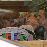 Kate Hudson and Fiancé Matt Bellamy Share a Kiss With Baby Bing by Their Side