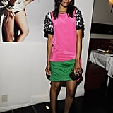 Talk about colorblocked cool: Zoe wore one of Prabal Gurung's Resort 2012 sheaths to Flaunt Magazine's Neo-Golden Age party in August 2011.