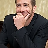 Jake looked adorable at a Nightcrawler photocall in Toronto in September 2014.
