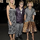 Anna Wintour, Brooklyn Decker, and Justin Beiber gathered at Dolce & Gabbana on Fashion's Night Out.