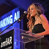 Sarah Jessica Parker was on stage at the amfAR Inspiration Gala in LA.
