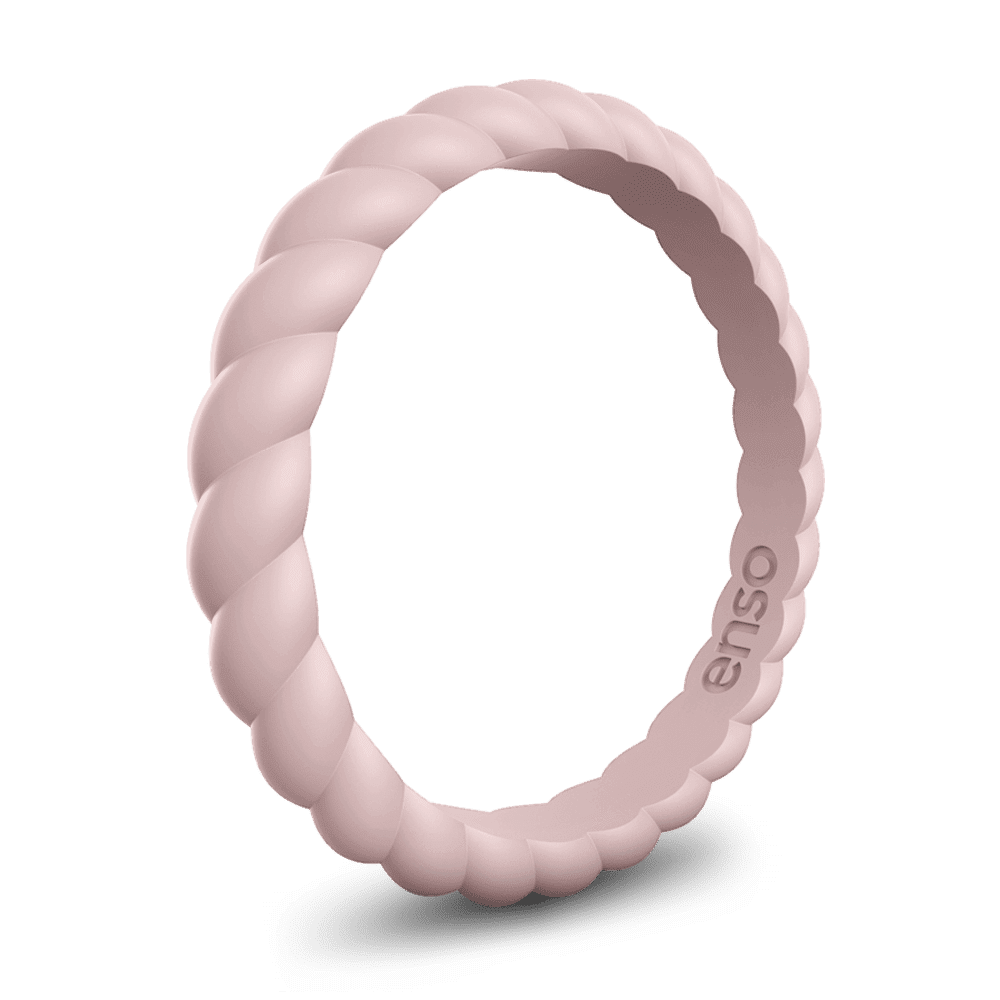 Enso Braided Stackable Silicone Ring