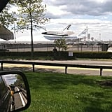 The space shuttle seen at JFK airport.  Source: Instagram User ktmcgarry