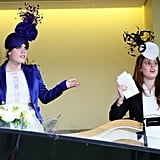 Princess Eugenie enjoys a good day at the races with her sister