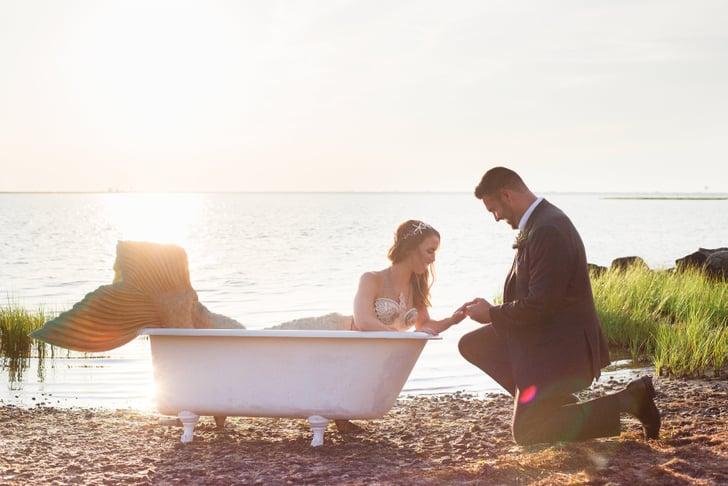 Mermaid Beach Wedding Ideas Popsugar Love Sex