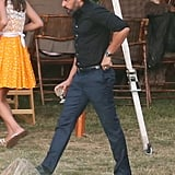 Joe Manganiello had a drink at the wedding.
