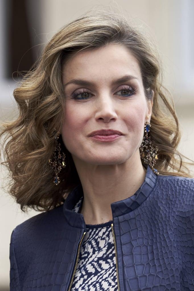 Queen Letizia Wearing Her Favorite Earrings