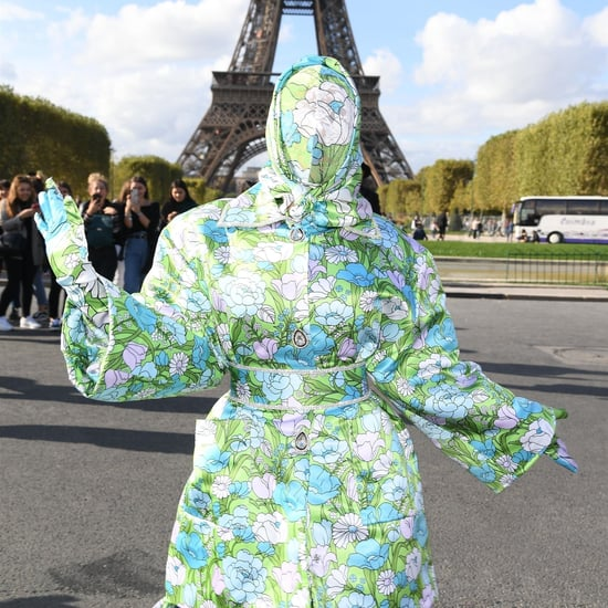 Cardi B Face Covered in Bodysuit at Paris Fashion Week Video