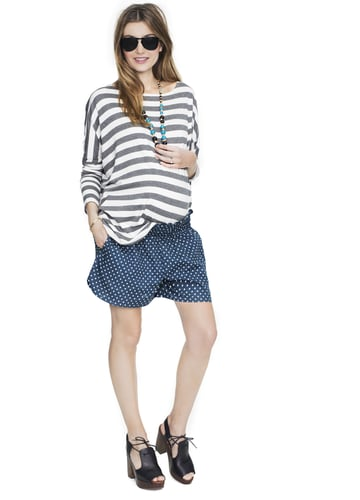 HATCH Collection's Weekend Shorts ($128) come in a variety of fun stripes, solids, and polka dots, and the elastic waist makes them easy to wear below or straight across the belly.