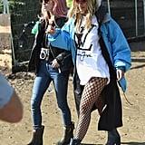 Mary Charteris and Rita Ora at Glastonbury 2016
