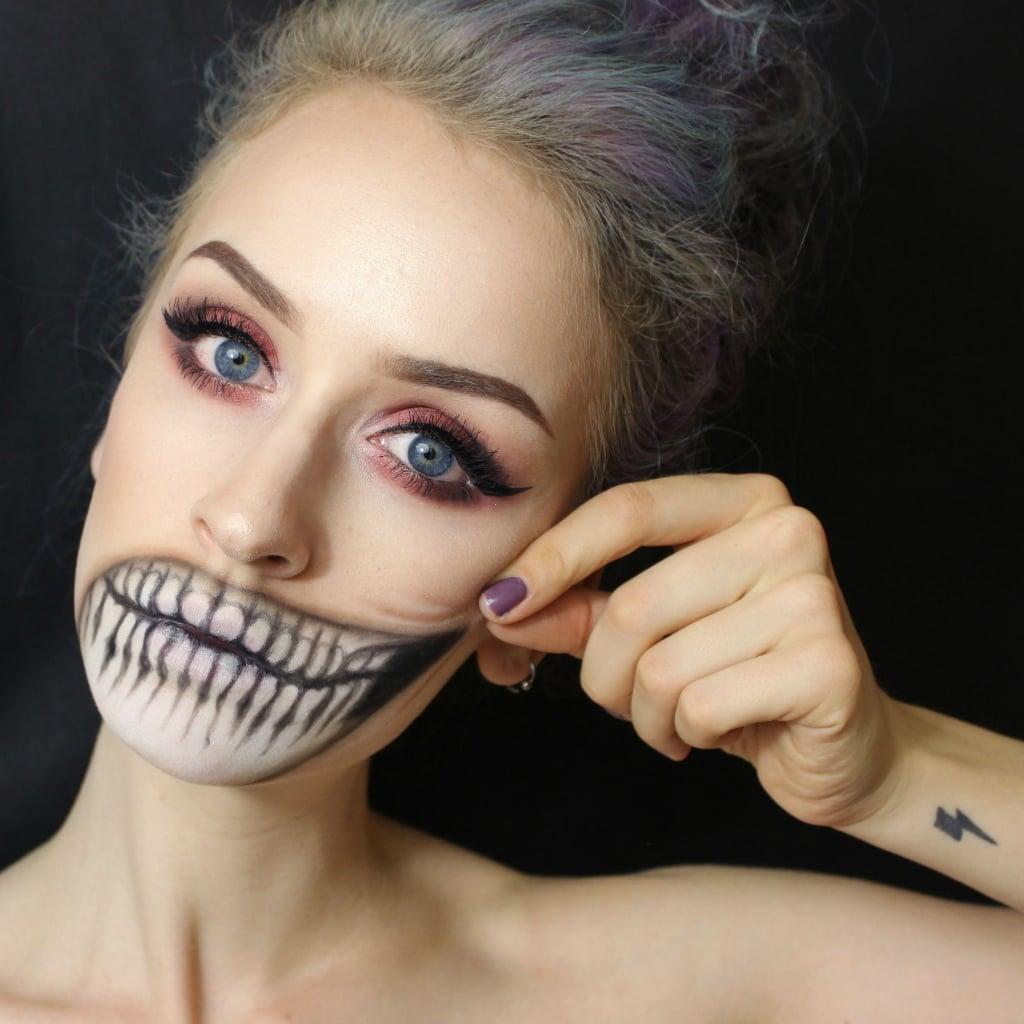 good vs. evil   halloween makeup ideas from reddit   popsugar beauty
