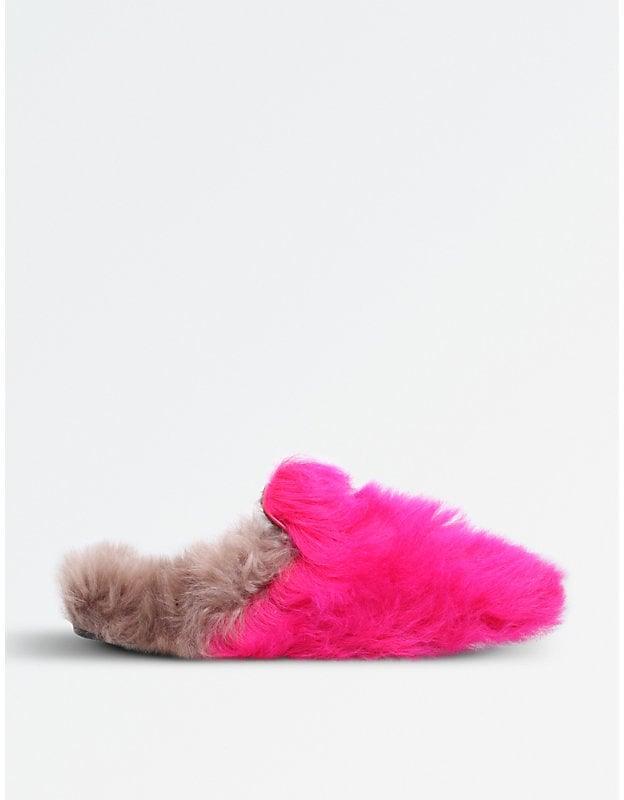 cf2f8e80fb8 Gucci Princetown Merino Wool Slippers