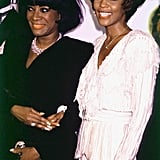Whitney and Patti LaBelle attend the 1990 Essence Awards in New York City.